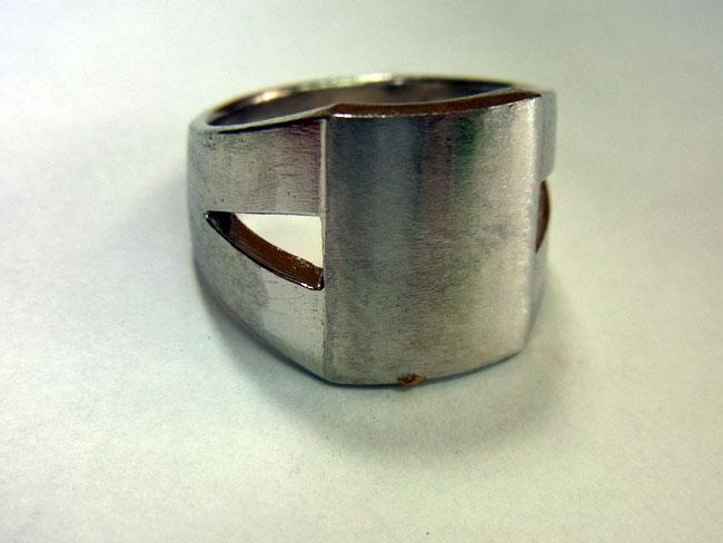 PT900 プラチナ ブラウンダイヤ デザインリング 4