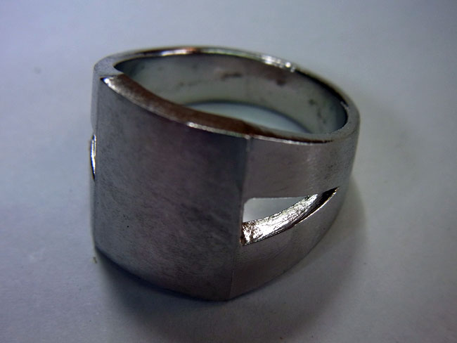 PT900 プラチナ ブラウンダイヤ デザインリング 5