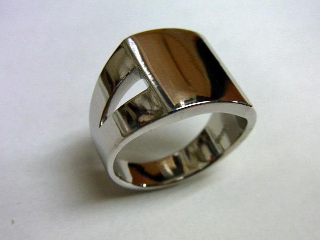 PT900 プラチナ ブラウンダイヤ デザインリング 6