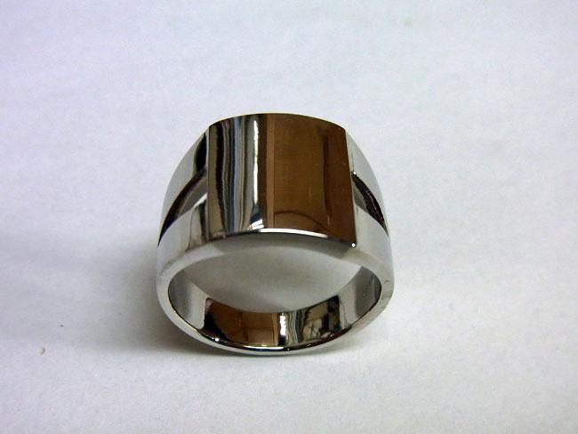 PT900 プラチナ ブラウンダイヤ デザインリング 7