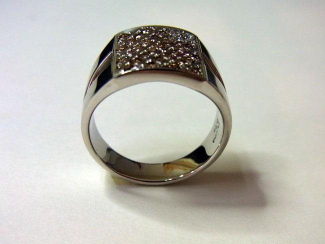 PT900 プラチナ ブラウンダイヤ デザインリング 10